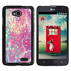 Paccase / SLIM PC / Aliminium Casa Carcasa Funda Case Cover - Teal Pink Purple Sparkly Snow - LG Optimus L70 / LS620 / D325 / MS323