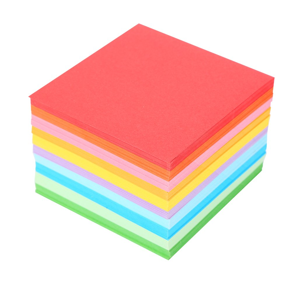 520pcs Origami Paper Square Folding Double Sided Printed with 10 Different Colors 7x7 cm Hilitand