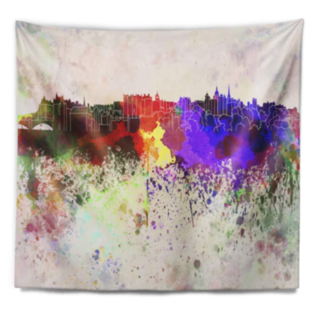 39 in Designart TAP6606-39-32  Edinburgh Skyline Cityscape Blanket D/écor Art for Home and Office Wall Tapestry Medium x 32 in in