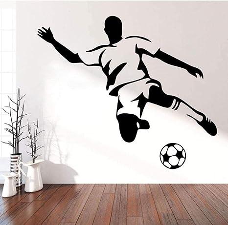 Yazcc Wandaufkleber Wandtattoo Fussball Junge Kunst Fur Kinderzimmer Schlafzimmer Wohnzimmer Sofa Hintergrund 58cm X 67cm Amazon De Kuche Haushalt