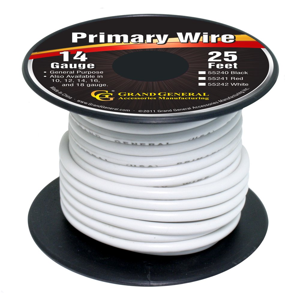 Amazon.com: Grand General 55241 Red 14-Gauge Primary Wire: Automotive