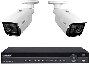 Flir Digimerge HD Weatherproof Indoor Outdoor Home Surveillance Security System with Monitor, Wired, (16) HD 1MP IP White Bullet Cameras, 32 Channel NVR, 2TB HDD, 70ft NV, Remote View via App