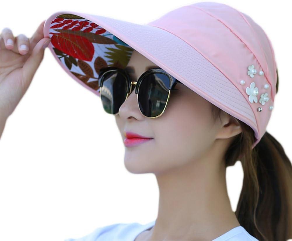 Ruikey Damen Faltbare Strand Beach Hat Wide Rand Sonne Fashion Sun Hut