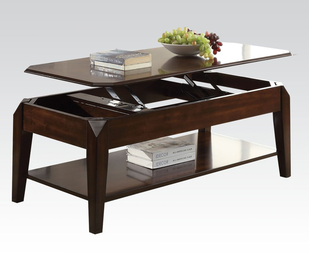 Amazon.com: ACME Furniture Acme 80660 Docila Coffee Table With Lift Top,  Walnut: Kitchen U0026 Dining