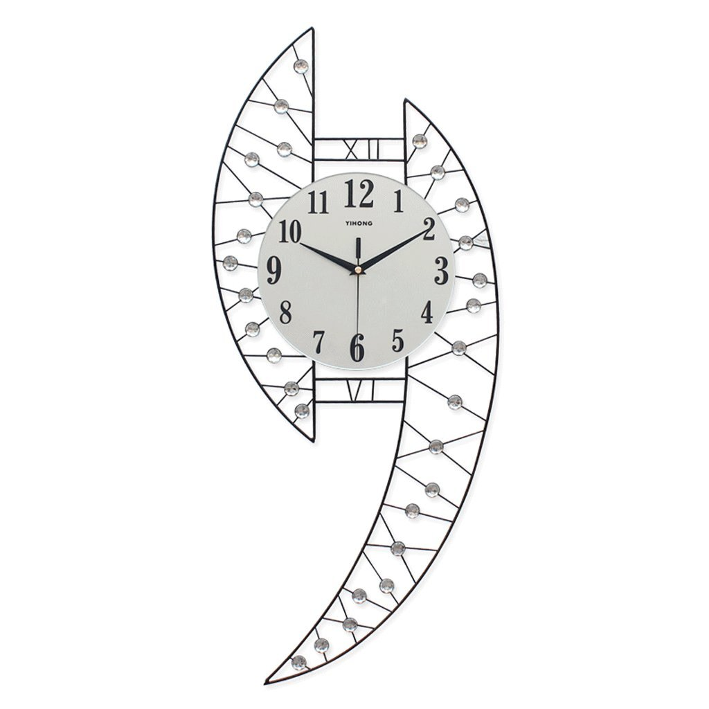 パーソナリティウォールクロックリビングルームシンプルウォールチャートクリエイティブウォッチミュートベッドルームクォーツ時計装飾的な壁時計 B07FC5TSC1