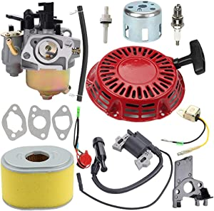 Harbot GX200 Carburetor Tune Up Kit for Honda GX140 GX160 GX168 GX 200 5HP 5.5HP 6.5HP Baja Warrior MB165 MB200 Harbor Freight Predator 60363 212CC