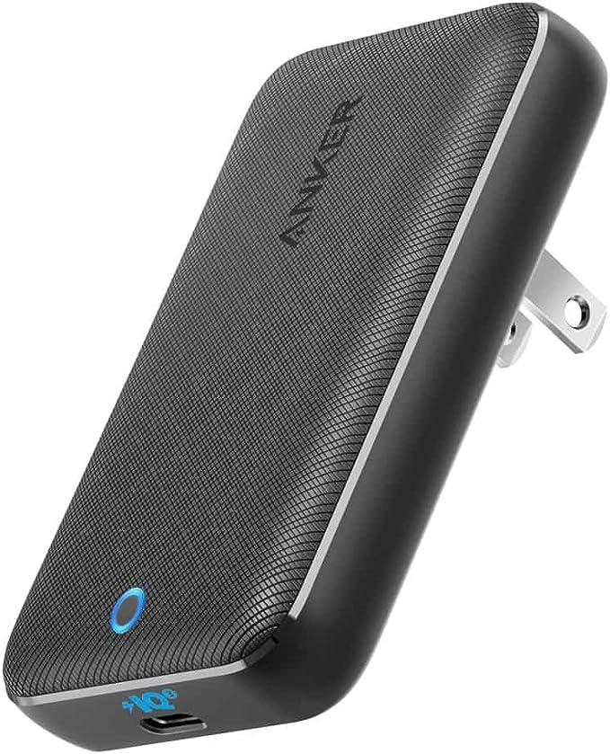 Anker PowerPort Atom III 45W Slim (PD対応 USB-C 急速充電器)【PSE認証済/USB Power Delivery対応/折りたたみ式プラグ/PowerIQ 3.0搭載】iPhone、iPad、MacBook Air、MacBook Pro、Android各種、その他USB-C機器対応 (ブラック)
