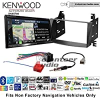 Volunteer Audio Kenwood DNX574S Double Din Radio Install Kit with GPS Navigation Apple CarPlay Android Auto Fits 2009-2010 Hyundai Sonata