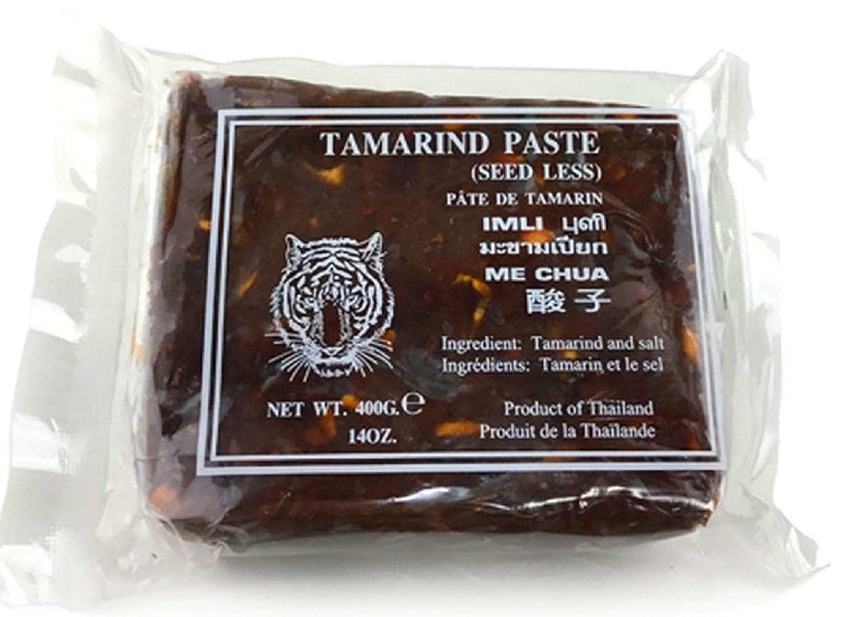 Wet Tamarind Paste,Sour Tamarind Paste Seedless Tamarido Product Thailand,Fresh (1 Pack (14oz each) Tiger)