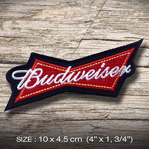 Budweiser Embroidered Patch Iron on DIY Decorate Clothes Clothing Vest Jacket Coat Hat Cap T-Shirt Denim Jean Bag Skirt Fun Hobby Gift