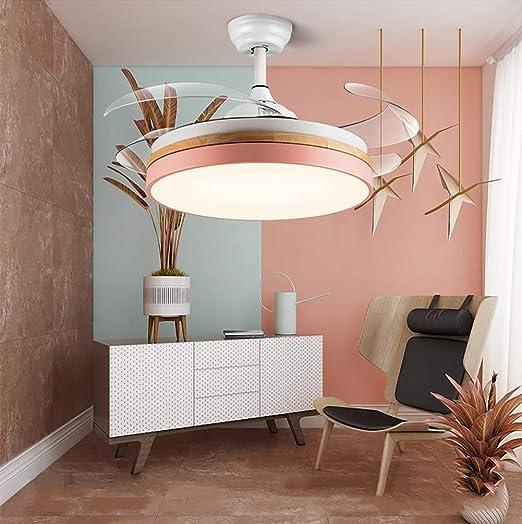 Ventilador de techo de 107 cm con luz de ventilador de capa media ...