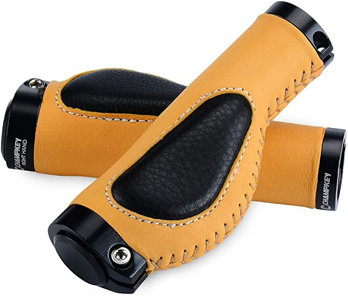Champkey Ergonomic Leather Bicycle Grips New One Set