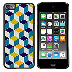 For Apple iPod Touch 6 6th Generation - Modern Pc Game Polygon Background /Modelo de la piel protectora de la cubierta del caso/ - Super Marley Shop -