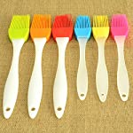kingleder Assorted Color Silicone Basting Brush for Desserts Baking Barbecue Pastry BBQ(Set of 6) 10 Made of FDA Flexible Silicone with a steel core inside and BPA free, 100% food-grade silicone Comes in 6 Assorted colors Baking brushes, Blue/Green/Orange/Pink/Red/Yellow Easy to clean, silicone design, easy to wash with hands, flush with soapy warm water to get the oily stuff down, and then hang it to air dry