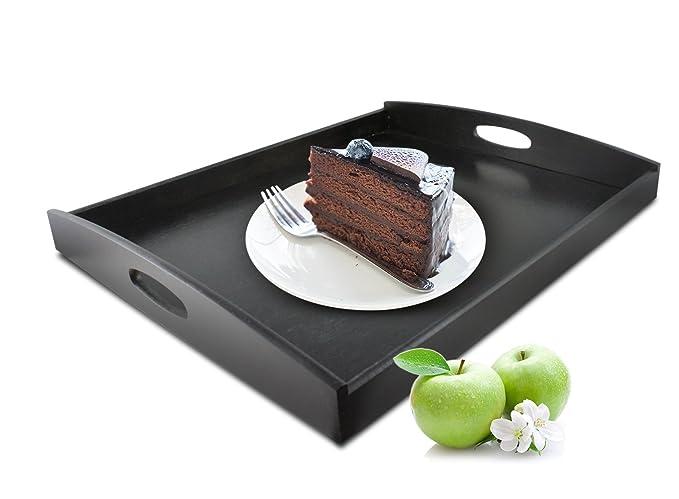 Serviertablett XXL dunkel Holztablett Betttablett Frühstückstablett Tablett Holz
