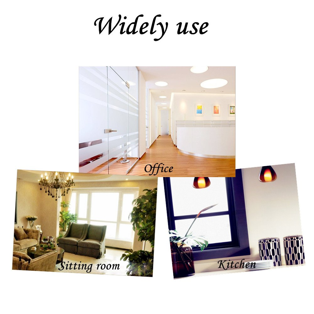 35.6by78.7 Inch Window Film Frosted Window Film Privacy Window Film Decorative Window Film Static Cling Window Film Suitable for All Kinds of Smooth Glass Surface by Beautyhero (Image #5)