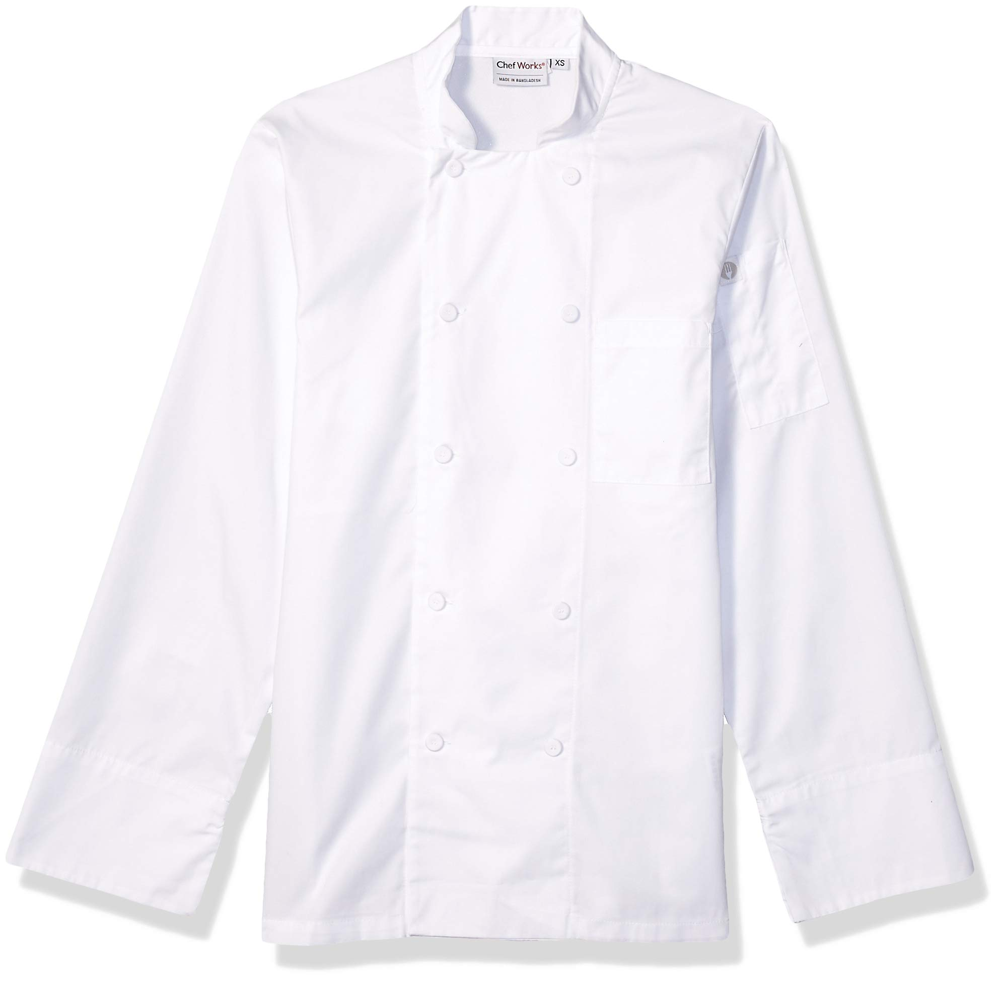 Chef Works Men's Calgary Cool Vent Chef Coat, White, Large by Chef Works