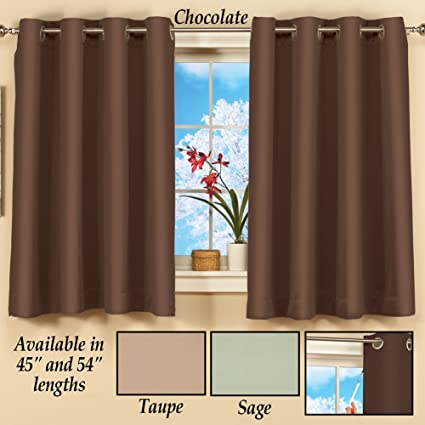 Amazon.com: Short Blackout Curtain Panel w/ Easy Open-Close 56\