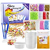 Kyпить OPount 15 Pack Slime Making Kit Including Fishbowl Beads, Foam Balls, Slime Storage Containers, Confetti, Fruit Slices, Slime Tools and Wooden Spoon for Slime Making Art DIY Craft на Amazon.com