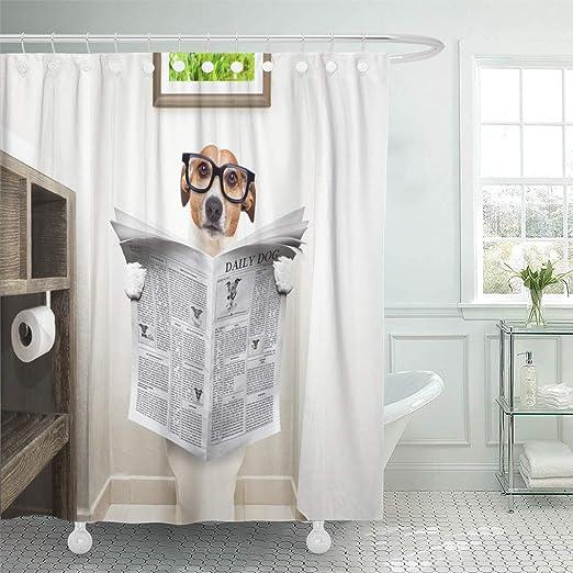 The Dog A Bath Theme Waterproof Fabric Home Decor Shower Curtain Bathroom Mat