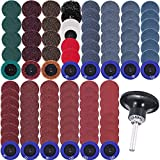 AUSTOR 103 Pcs Sanding Discs Set 2 Inches Quick Change Disc with 1/4 inch Tray Holder for Die Grinder Surface Prep Strip Grind Polish Finish Burr Rust Paint Removal