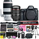 Canon EOS 6D Mark II 26.2 MP DSLR Camera (Wi-Fi) PROFESSIONAL PHOTOGRAPHER Multi-Lens Kit with EF 24-105mm f/4L IS II USM Lens, EF 100-400mm f/4.5-5.6L IS II USM Lens & Camera Works Accessory Bundle