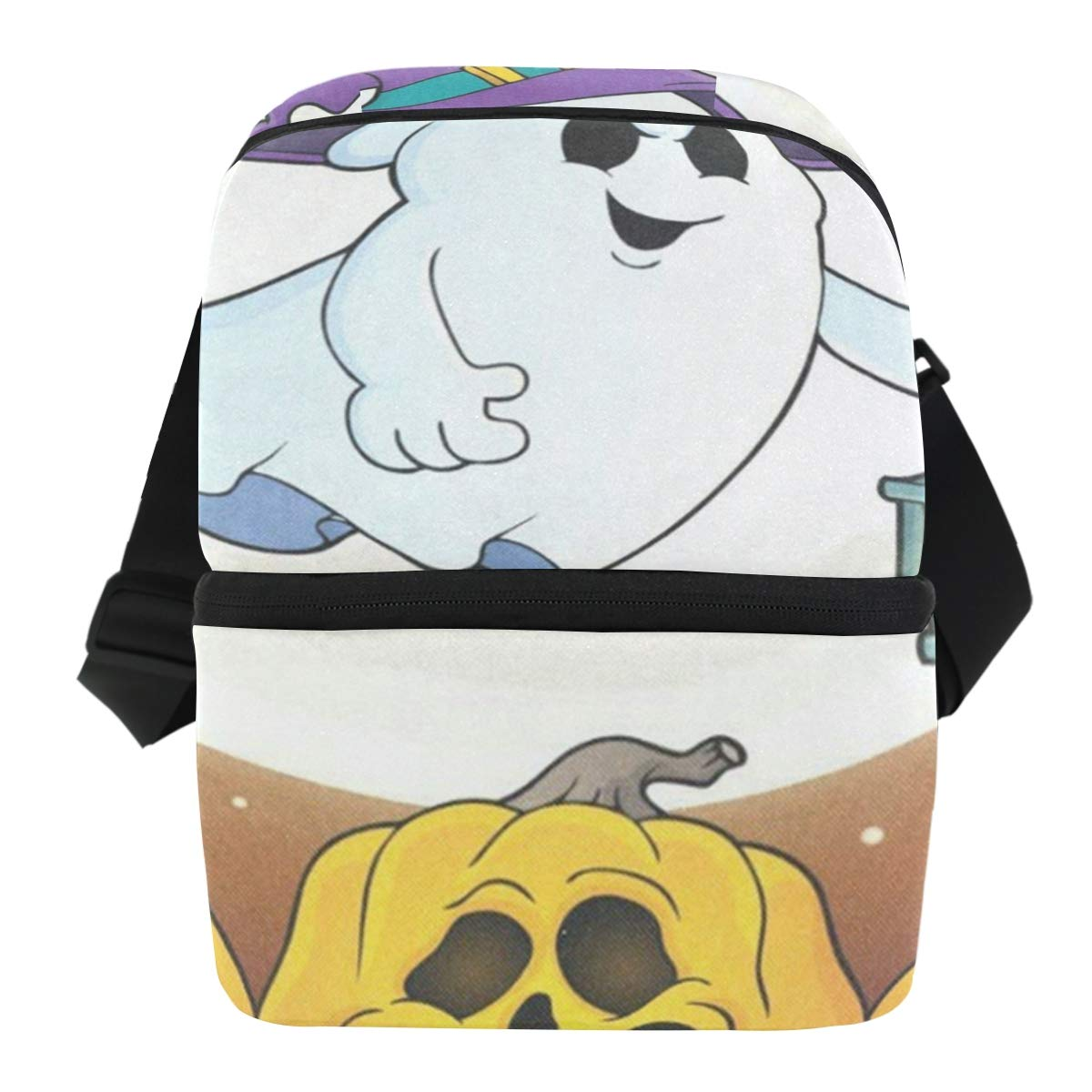 Lunch Bag Ghost With Hat And Lantern Reusable Cooler Bag Womens Leakproof refrigerator Storage Zipper Tote Bags for Wine