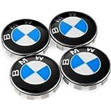 OSIRCAT Set of 4 - BMW Wheel Center Caps Emblem,68mm BMW Rim Center Hub Caps for All Models with BMW Wheels Logo Blue…