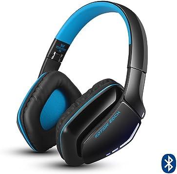 KOTION Each Auriculares Bluetooth Wireless Headset B3506 Plegable Gaming Headset v4.1 con Microfono para PS4 PC Mac Smartphones Ordenadores(Negro+Azul): Amazon.es: Electrónica