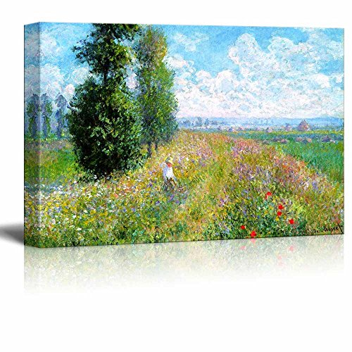 Meadow with Poplars by Claude Monet Print Famous Oil Painting Reproduction