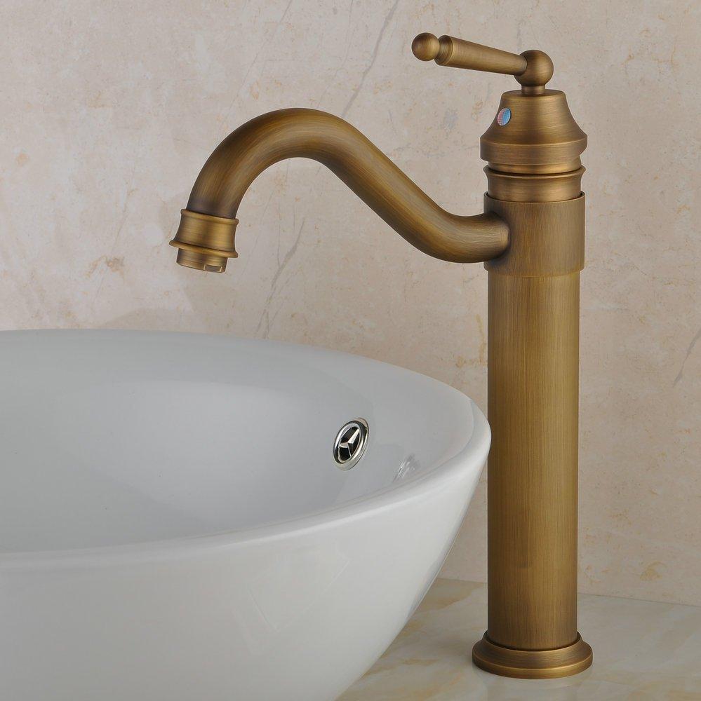 Hiendure Centerset Single Handle Antique Brass Bathroom Vanity Sink ...