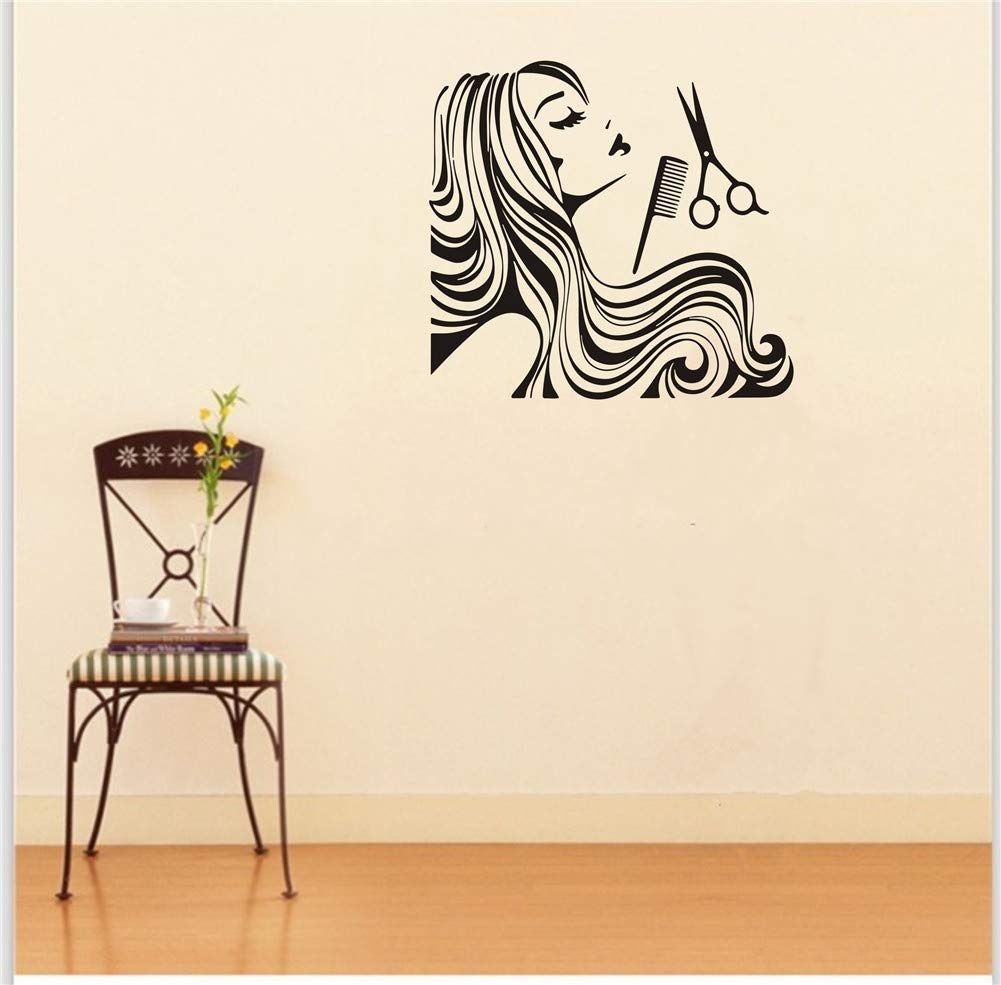 L-Peach Creativo Adesivi Murali Impermeabile per Parrucchiere Rimovibile Adesivo da Parete Art Stickers Decorazione Murale