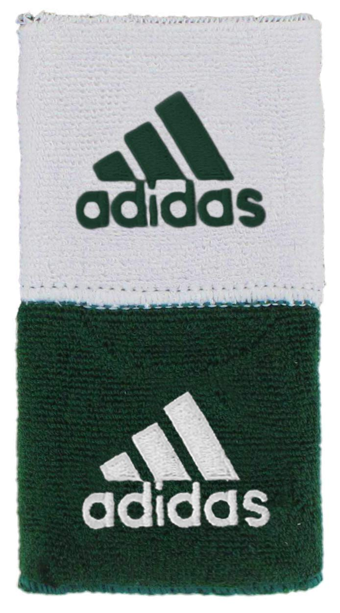 adidas Unisex Interval Reversible Wristband, Forest/White White/Forest, ONE SIZE by adidas