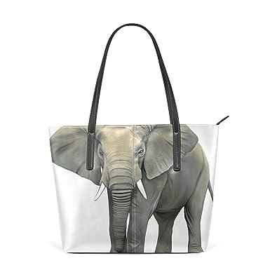 Amazon.com: Bolso de piel para mujer, con diseño de elefante ...