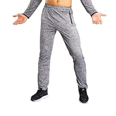 MEYINI Pantalones de chándal - Hombres Pantalones de Running ...