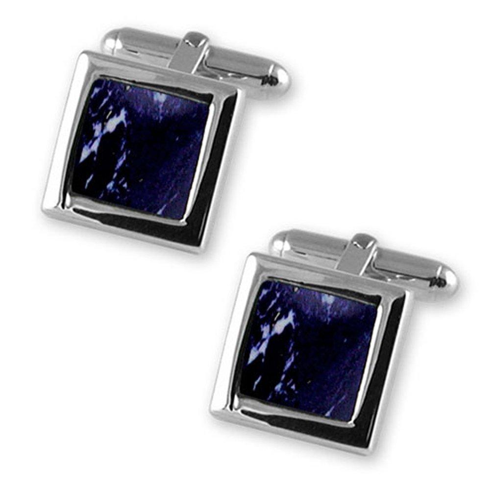 Sterling silver lapis cufflinks James Bond Money Clip Box Set