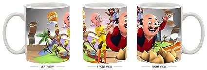 Buy Motu Patlu All Character For Kids Hd Printed Ceramic Coffee
