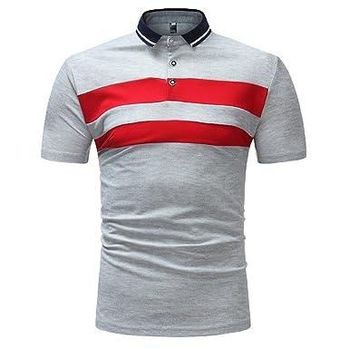 39715cb9d71c Poloshirt Herren T Shirt Top Slim Fit Kurzarm Polo Shirt mit Polokragen  Basic T-Shirt Baumwolle Bluse Freizeithemd Zhen+ Männer Sport Tank Tops  Einfach ...