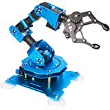xArm 1S Robotic Arm 6DOF Full Metal Programmable Arm with Feedback of Servo Parameter, Wireless/Wired Mouse Control, Mobile P