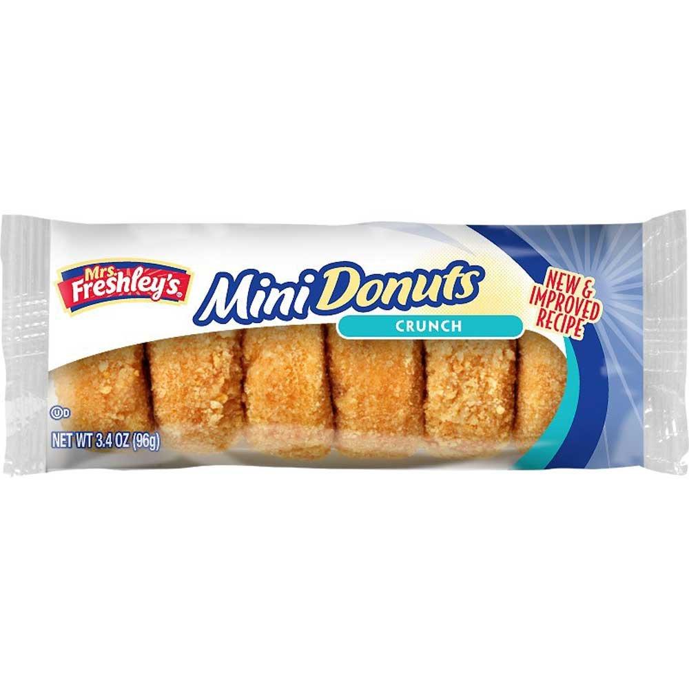 Mrs Freshleys Crunch Mini Donut, 3.4 Ounce -- 72 per case. by Mrs. Freshley's (Image #1)