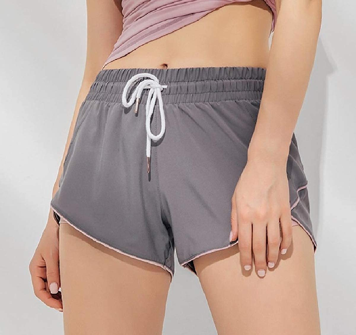 Zimaes-Women Quick Dry Gym Dance Yoga Pilates Color Conjoin Yoga Shorts