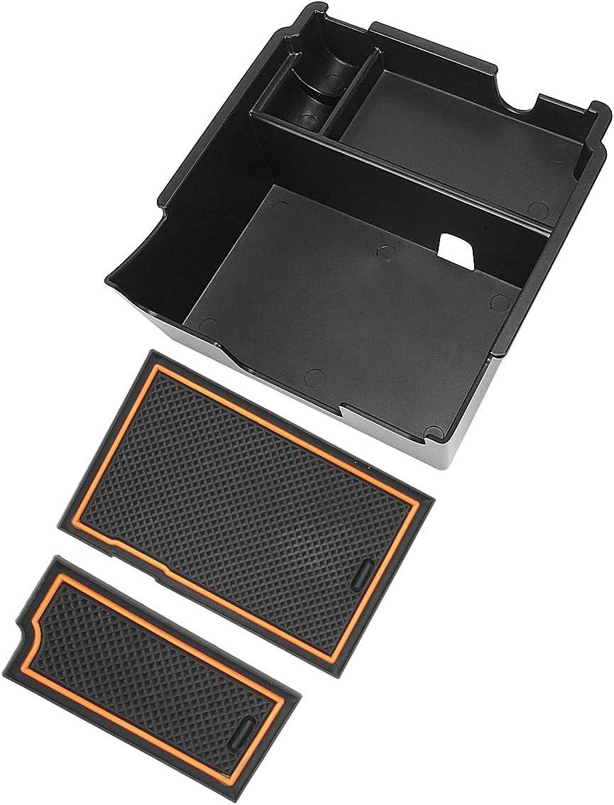 Pack of 14 Auovo Anti-dust Door Mats for 2018 2019 2020 Subaru Crosstrek and Impreza Gate Door Liners Inserts Cup Console Mats Interior Accessories Red