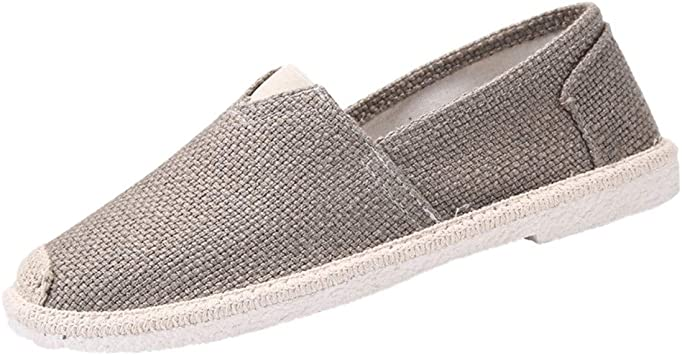 ZODOF Hombres Lino Suave Cabeza redonda Pie inferior Casual Moda Deportes Zapatos perezosos zapatillas hombre baratas(41 EU,gris): Amazon.es: Bricolaje y herramientas