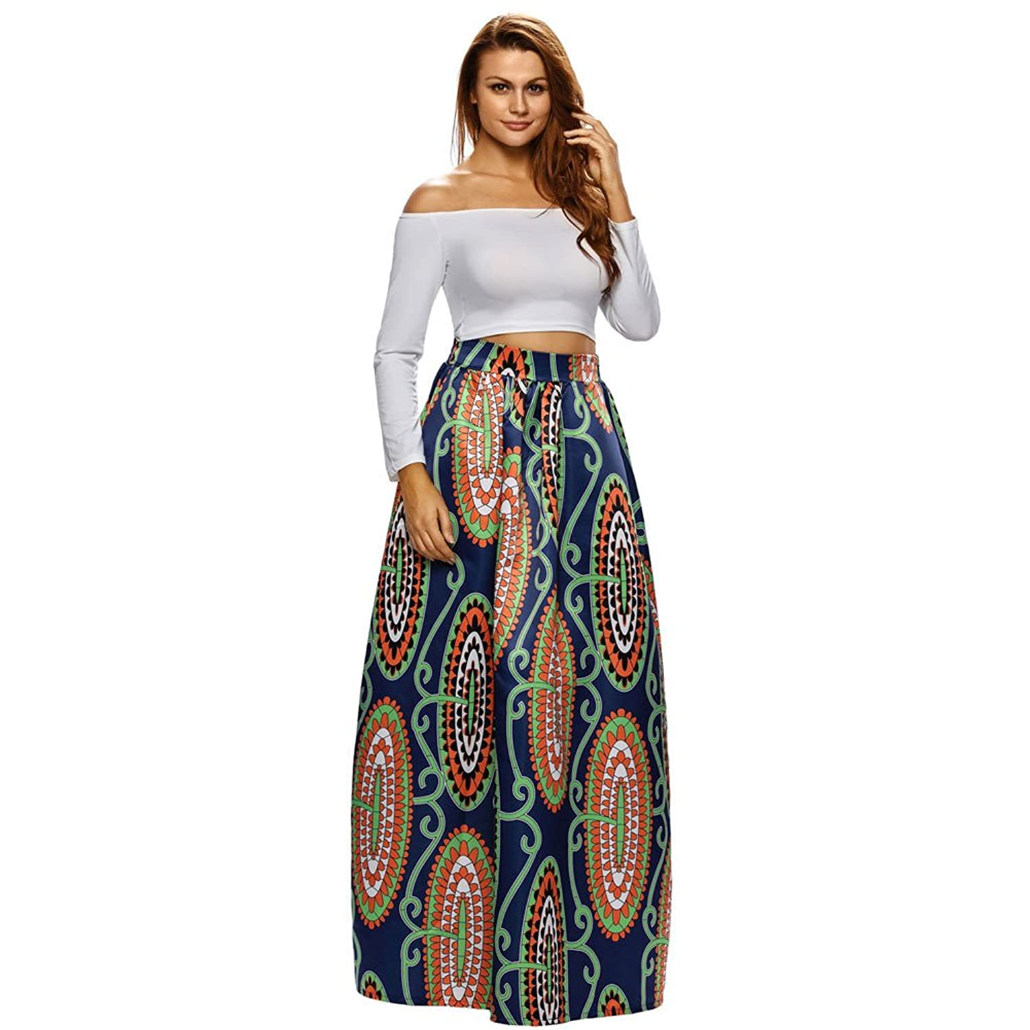 70off Feel Show Womens African Print Dashiki Dress With Pockets