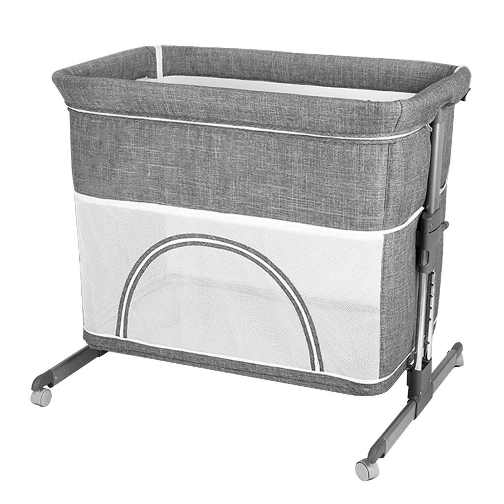 Rocking Chair Newborn Cradle Bed Bedside Bassinets Infant Comfort Recliner Sturdy Stable Easy Folding Baby Rocking Chair Disassembly Suitable for Newborn Children Bed (Color : Gray) by Baby cradle
