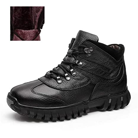 FHCGMX Stivali in Vera Pelle 100% Scarpe Invernali da Uomo Stivali Caldi da  Uomo Stivali a97fe100a8a