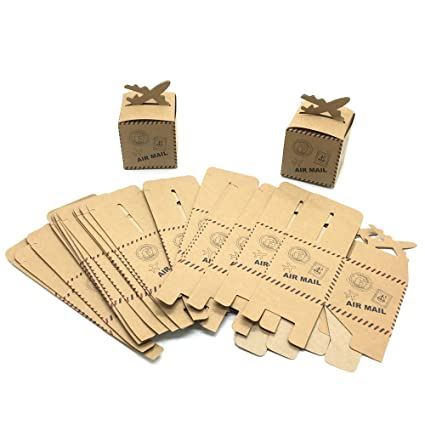 Amazoncom Huele 25pcs Mail Airplane Kraft Candy Box Paper Bag