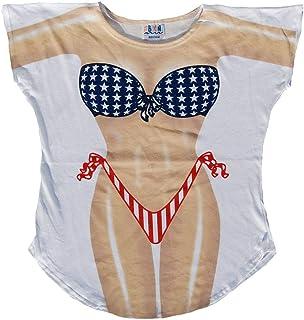 a63c56e44b L.A. Imprints Miss America Bikini Body Cover-Up T-Shirt #6 at Amazon ...