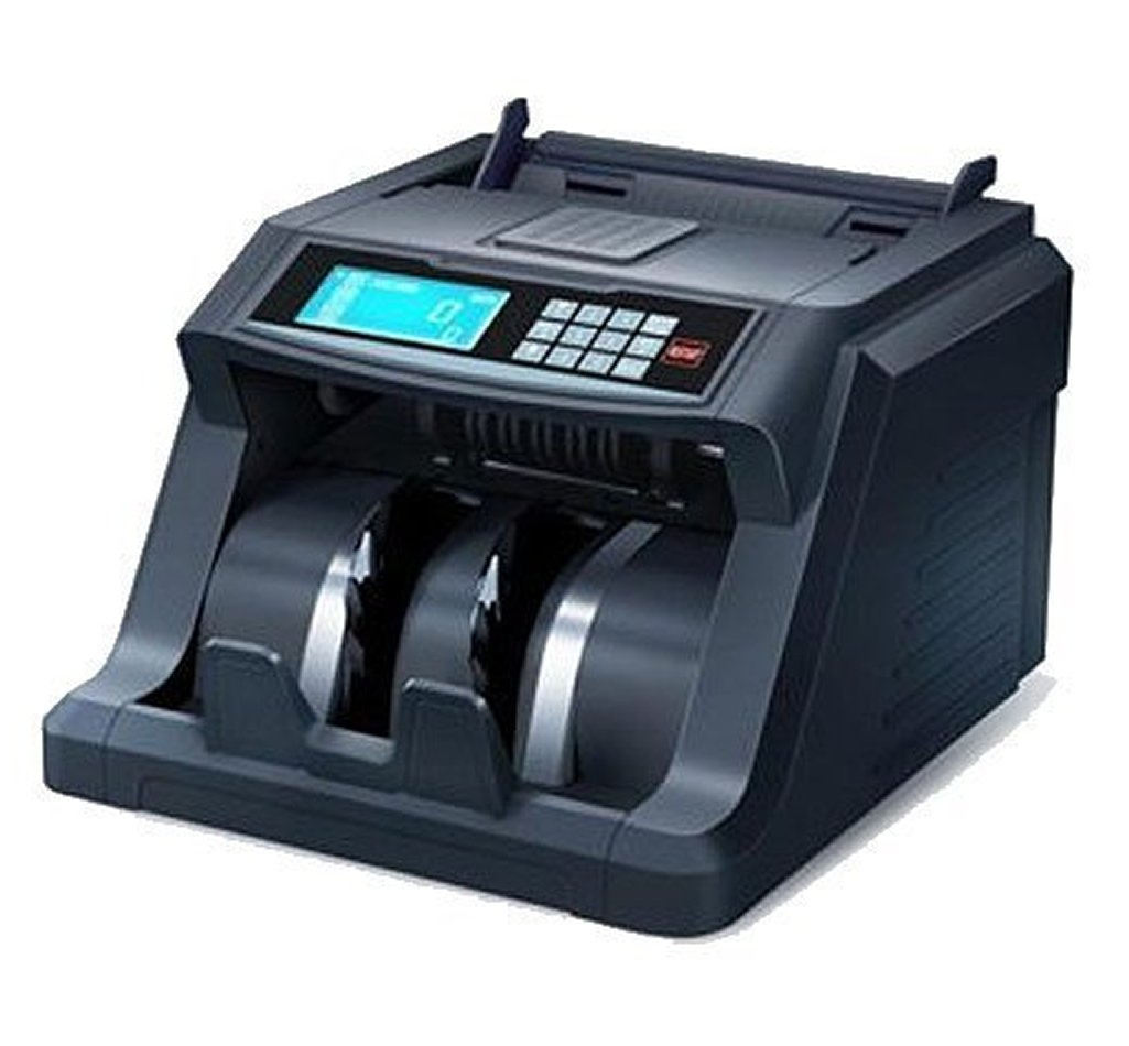 Ribao BC-2000 B Basic Model Money Bill Counter with External Display, Black, 1,000 Pcs/Min Counting Speed, 300pcs Hopper Capacity, 200pcs Stacker Capacity, Automatic IR Size Detection