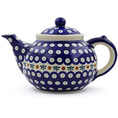 Polish Pottery Tea or Coffee Pot 6 cups Mosquito